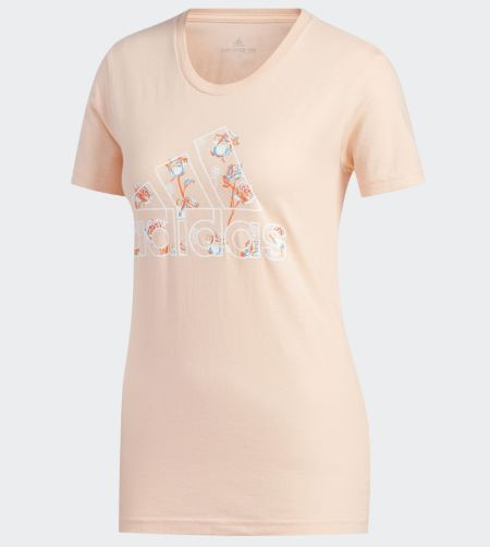 Camiseta Adidas Floral Feminina - Rosê