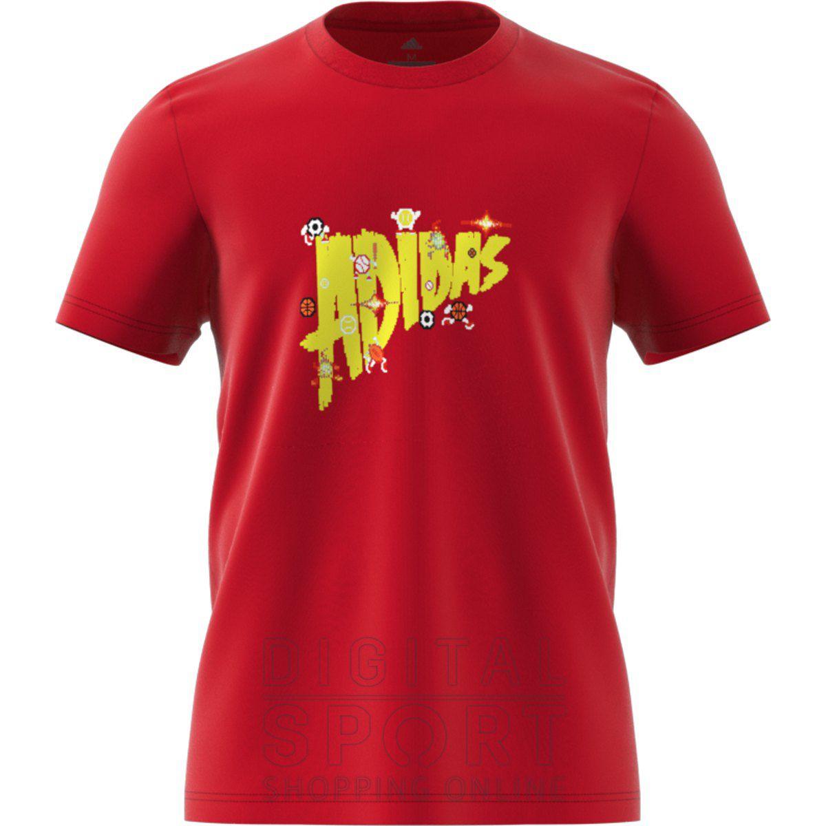 Camiseta Adidas Lineage Masculina - Vermelha