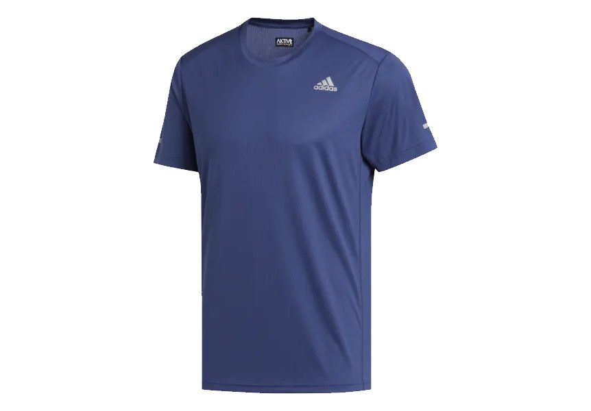 Camiseta Adidas Run It Tee Masculino - Azul
