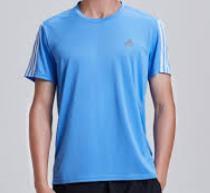 Camiseta Adidas Running 3s Masculina - Azul/Branco