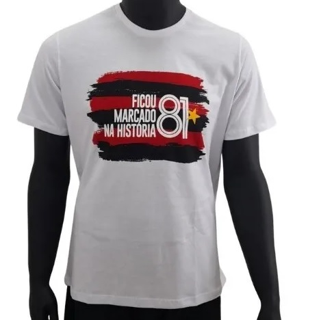 Camiseta Braziline Flamengo History Masculina - Branca