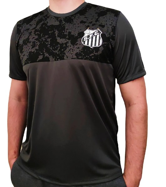 Camiseta Braziline Santos Heed Masculina - Chumbo
