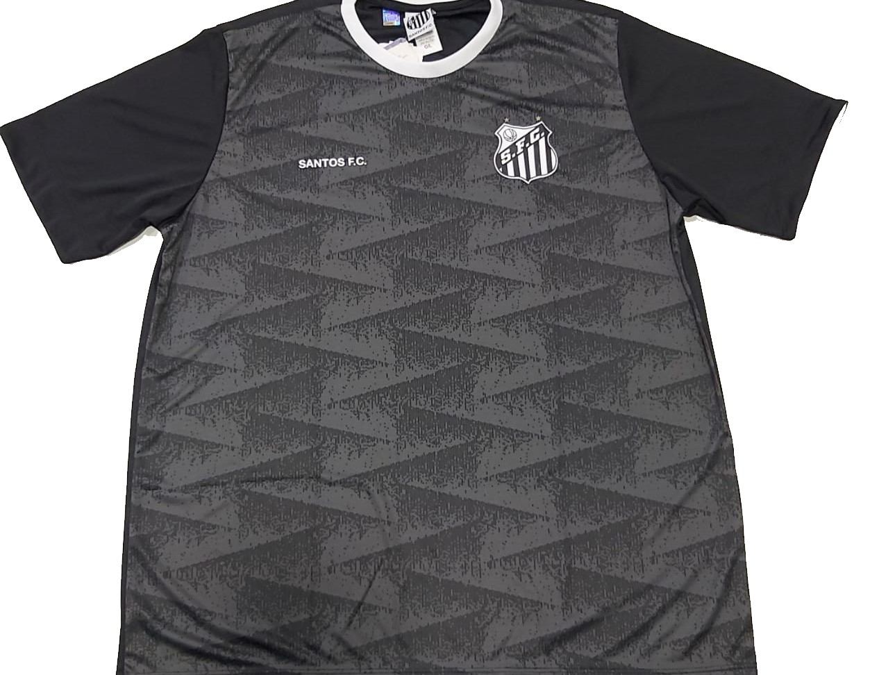 Camiseta Braziline Santos Norm Masculina - Preta