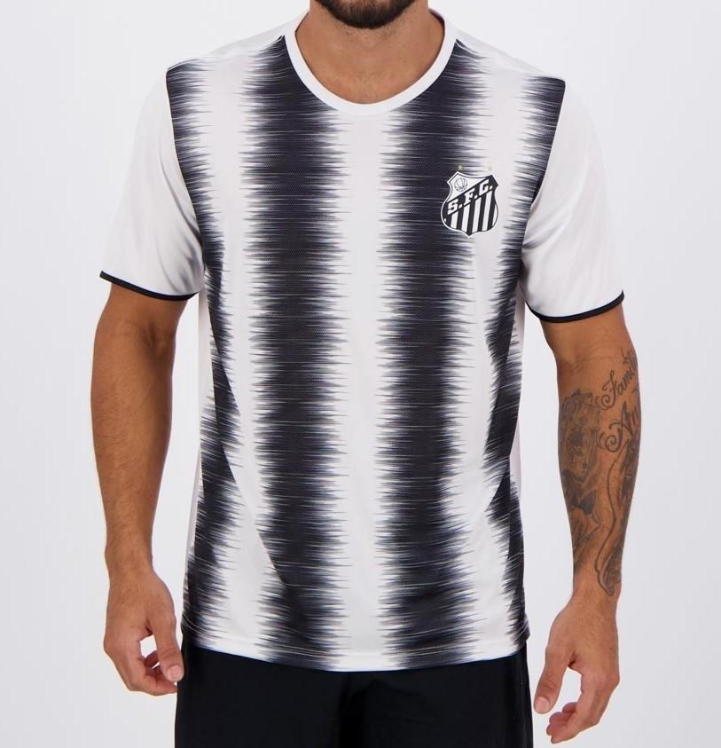 Camiseta Braziline Santos Part Masculina - Branca