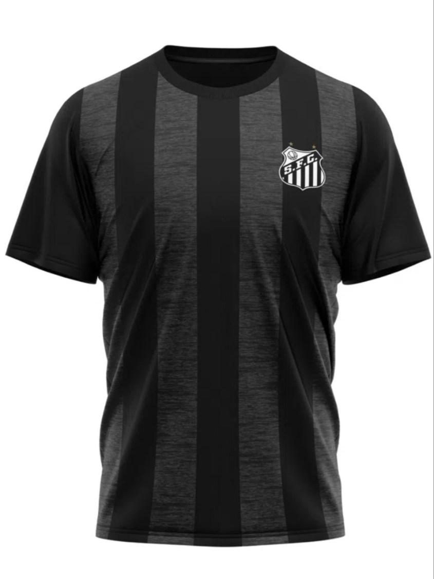 Camiseta Braziline Santos Seek Masculina - Preta