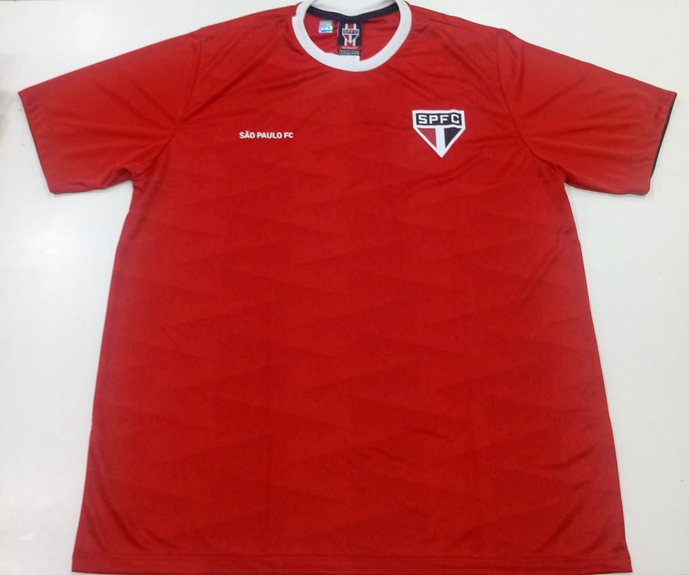 Camiseta Braziline São Paulo Norm Masculina - Vermelho