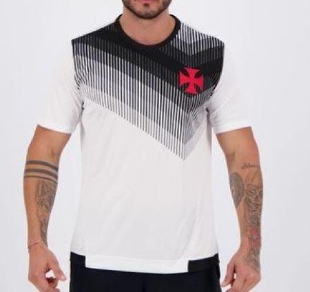 Camiseta Braziline Vasco Contact Masculina - Branca