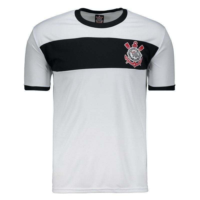 Camisa Corinthians Masculina - Branco/Preto