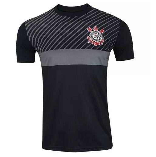 Camisa Corinthians Peter Masculino - Preto/Cinza
