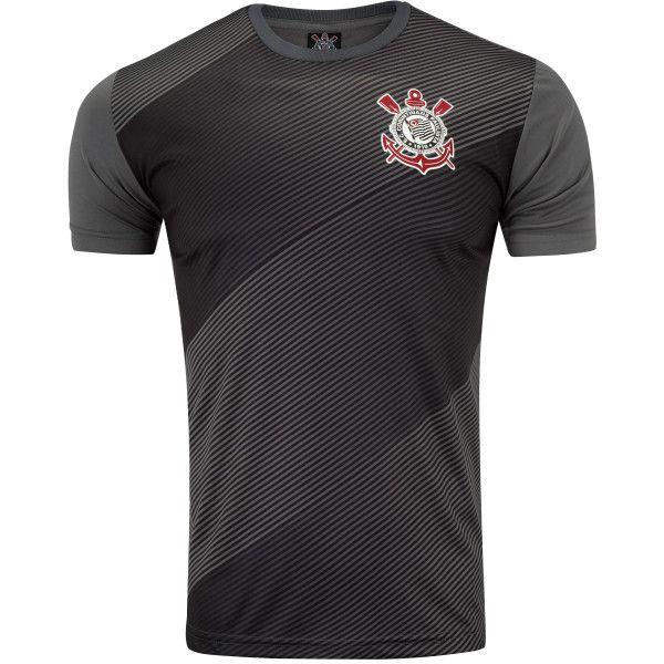 Camiseta do Corinthians Thunder 19 - Masculino - Cinza e Preto