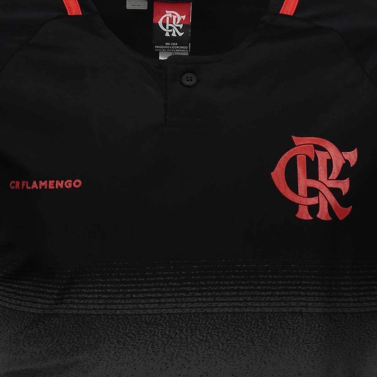 Camiseta Flamengo Braziline Detroit Masculina - Cinza e Preto