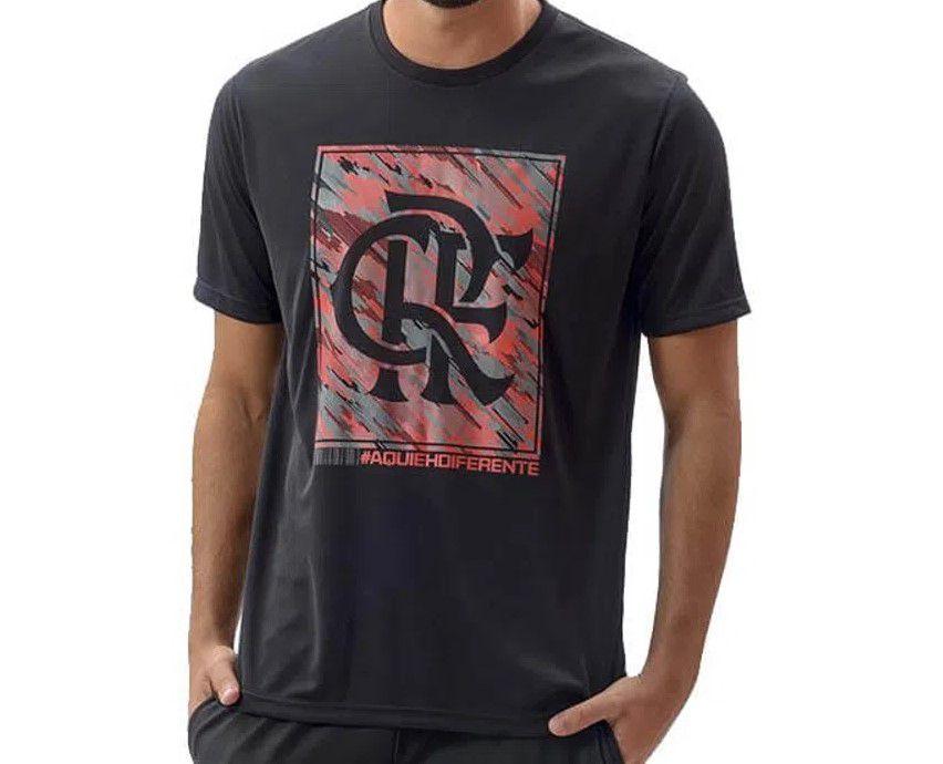 Camiseta Flamengo Braziline Pride Masculina - Preto