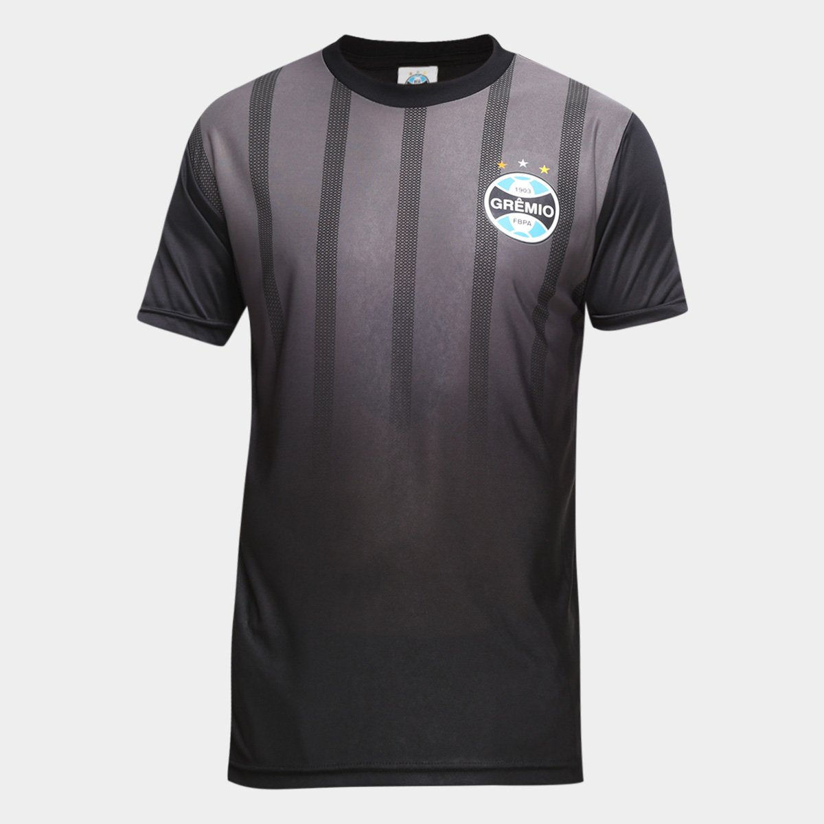 Camiseta Grêmio Dry Flag Masculina - Preta