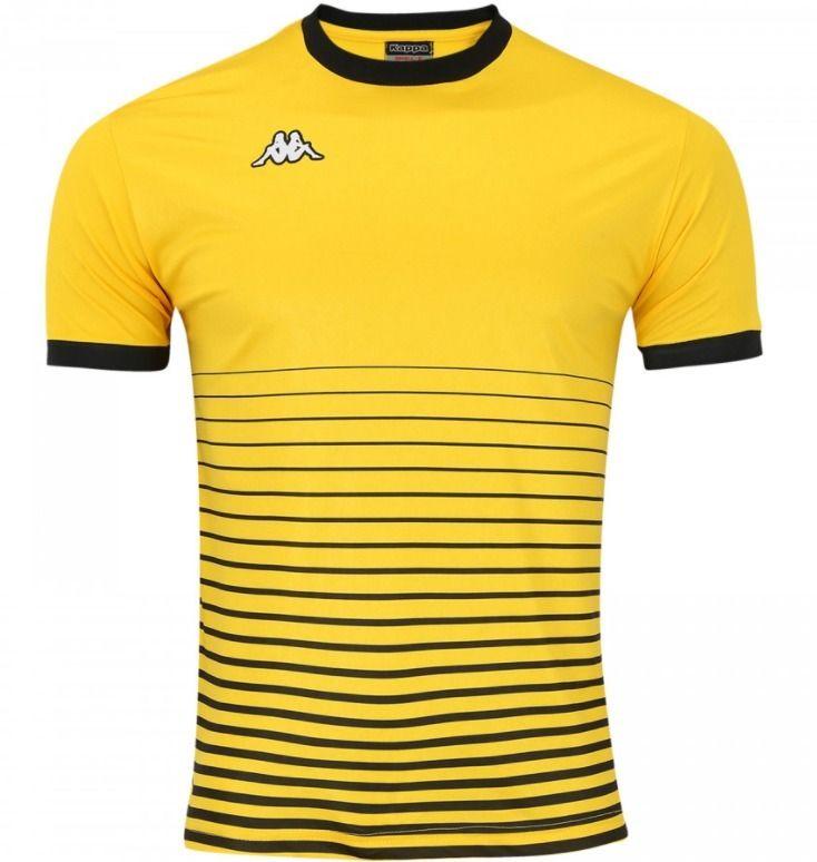 Camiseta Kappa Striker Masculina - Amarelo