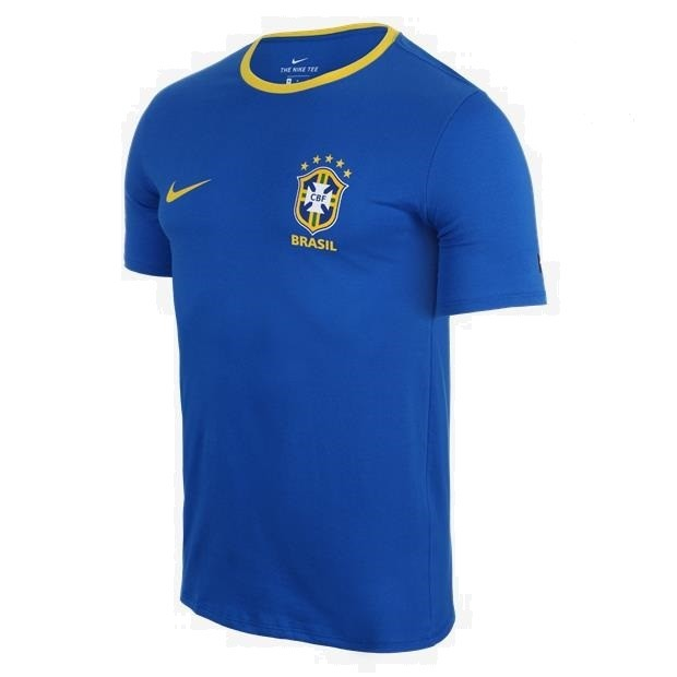 Camiseta Nike CBF Brasil Masculino - Azul