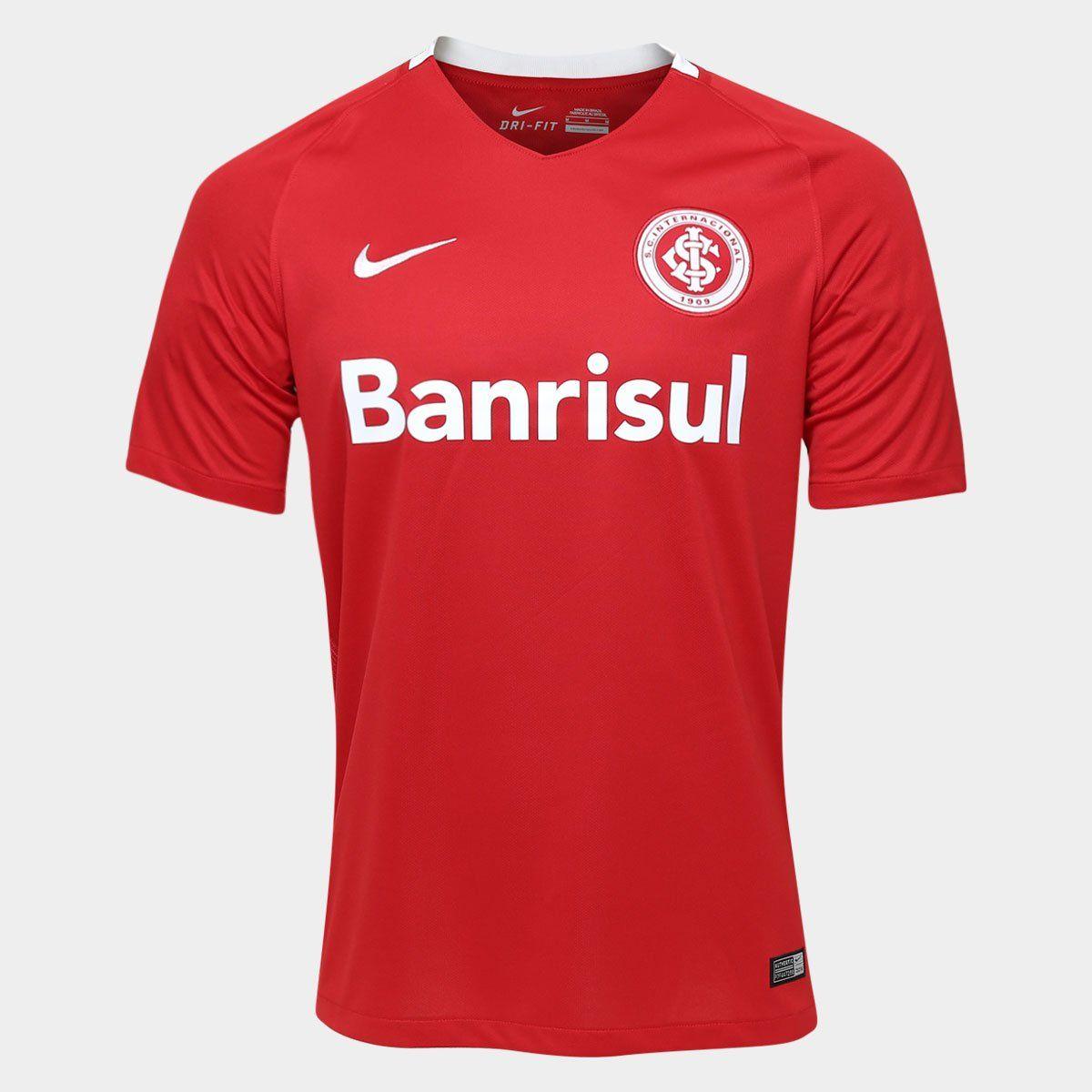 Camisa Internacional Nike Vermelho Masculina - Oficial 2016