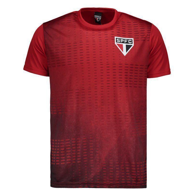 Camiseta São Paulo Bleed Colors SPR Masculina - Vermelho