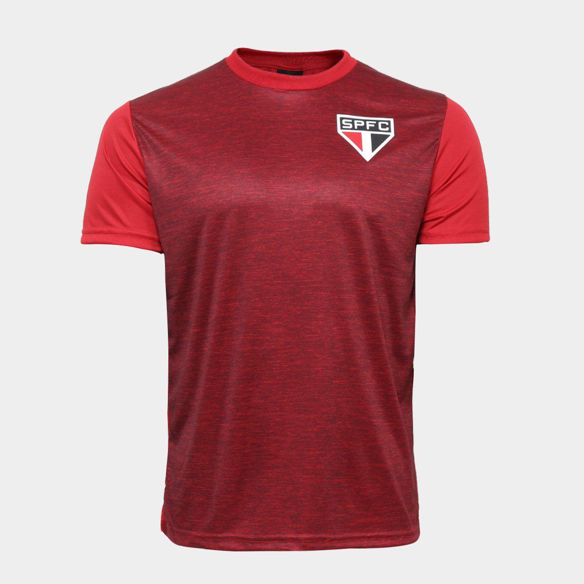Camiseta São Paulo Mescla - Masculino - Vermelho