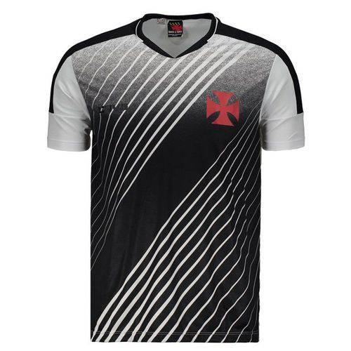 Camiseta Vasco Braziline Strike Masculino - Branco/Preto