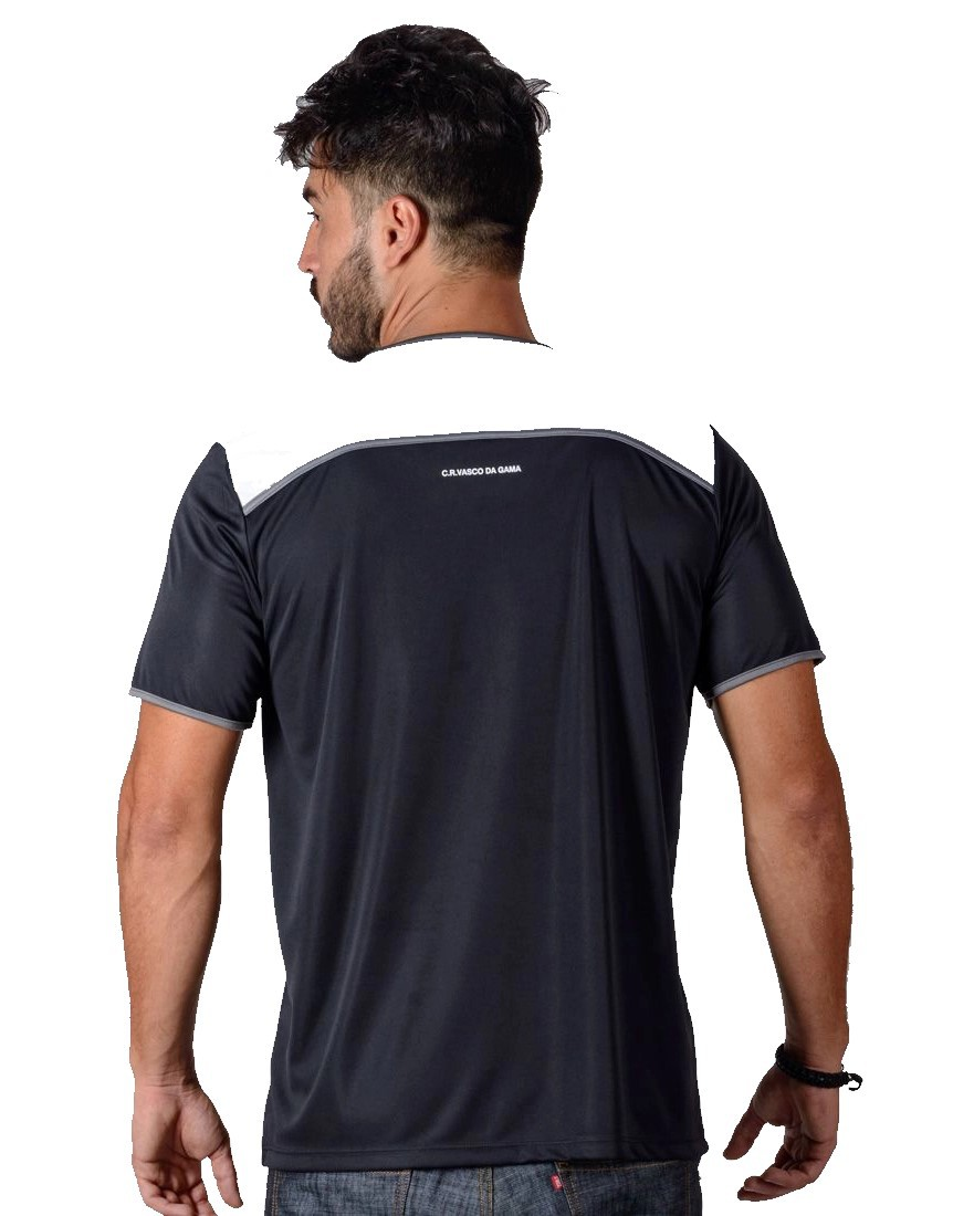 Camiseta Vasco Braziline Up Adulto - Preta