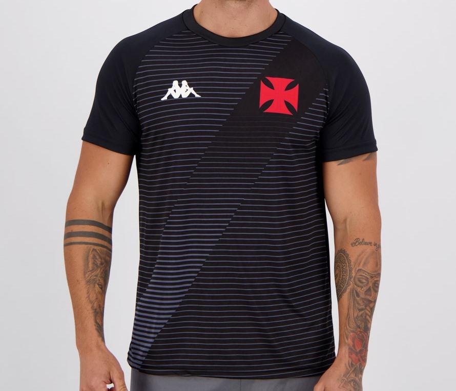 Camiseta Vasco Supporter Masculina - Preta