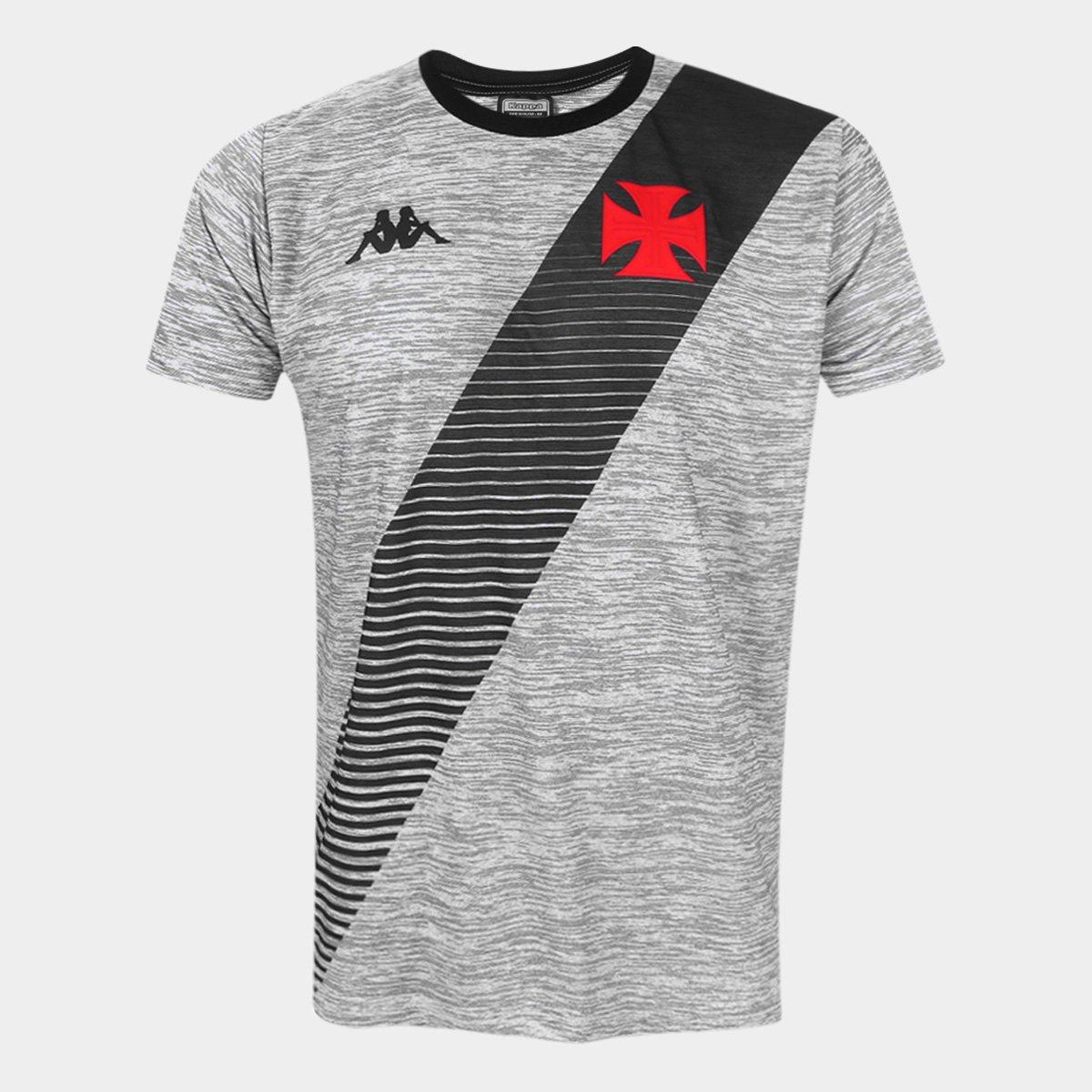 Camiseta Vasco Supporter Mixed Masculina - Mescla Claro