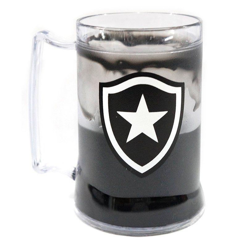 Caneca Gel Botafogo Escudo - Preta