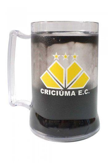 Caneca Gel Criciúma Escudo - Preto
