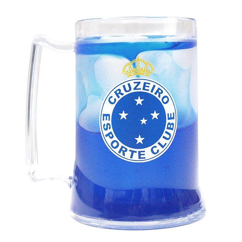 Caneca Gel Cruzeiro Escudo - Azul