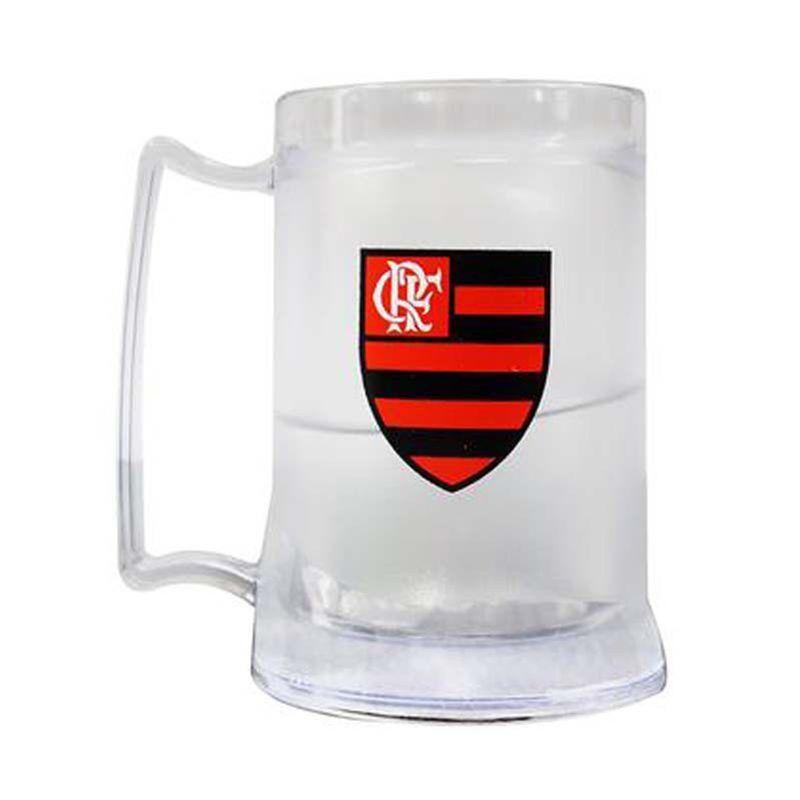 Caneca Gel Flamengo Escudo - Incolor