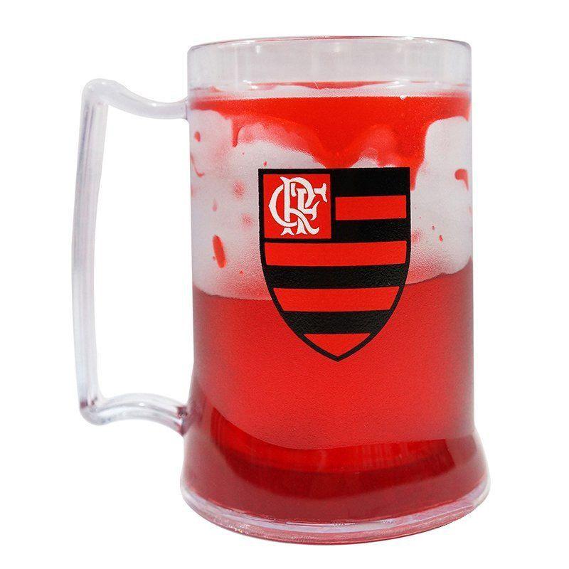 Caneca Gel Flamengo Escudo - Vermelho