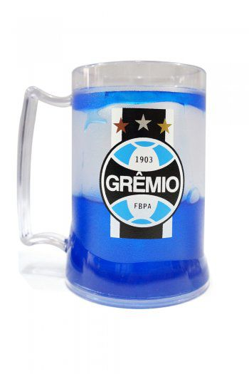 Caneca Gel Grêmio Escudo Faixa - Azul