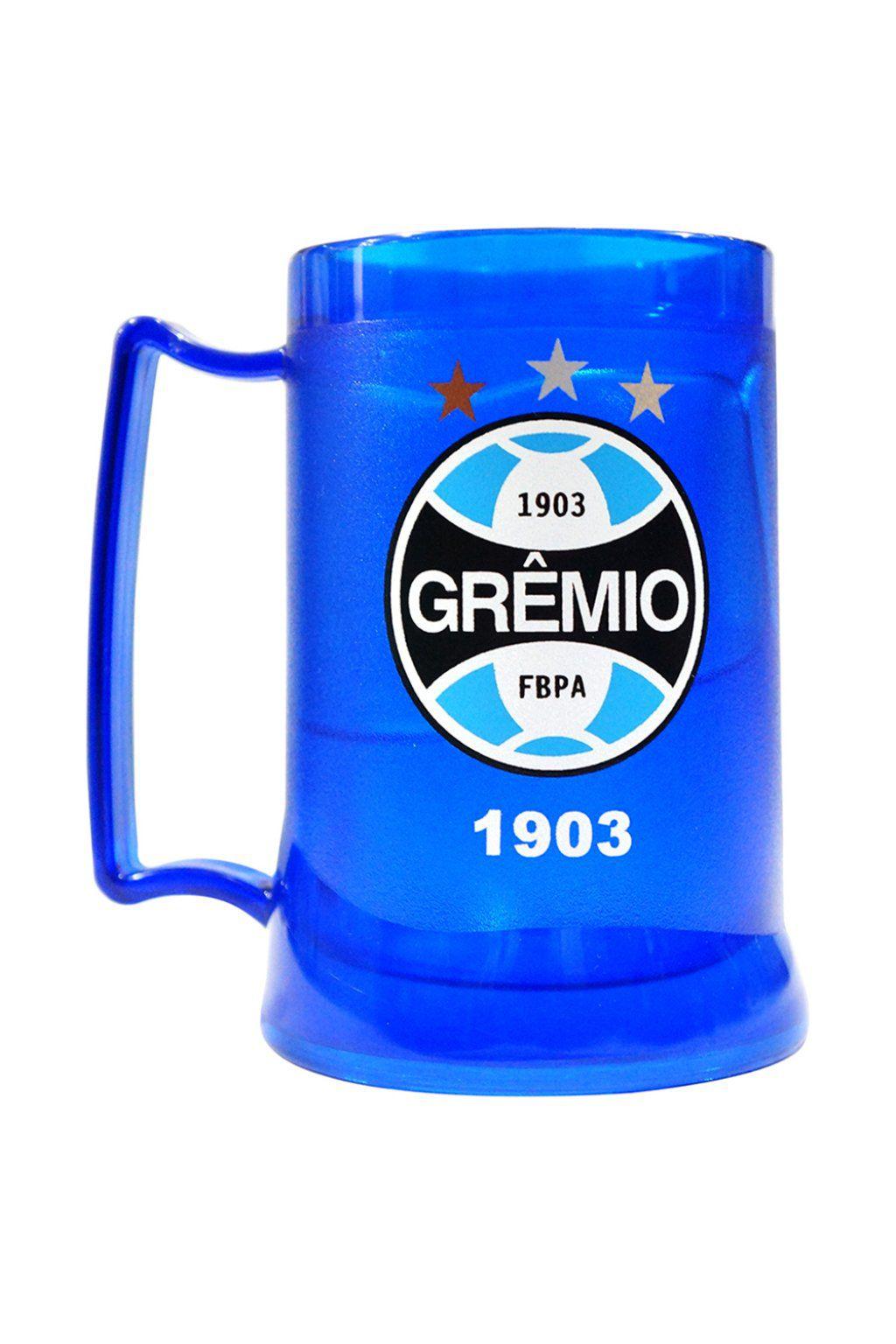 Caneca Gel Grêmio Peca Escudo - Azul