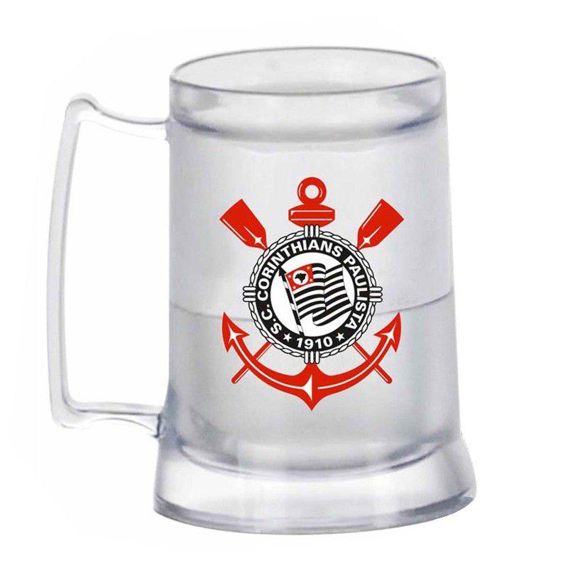 Caneca Gel Corinthians Incolor Escudo