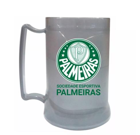 Caneca Gel Palmeiras Prata Escudo