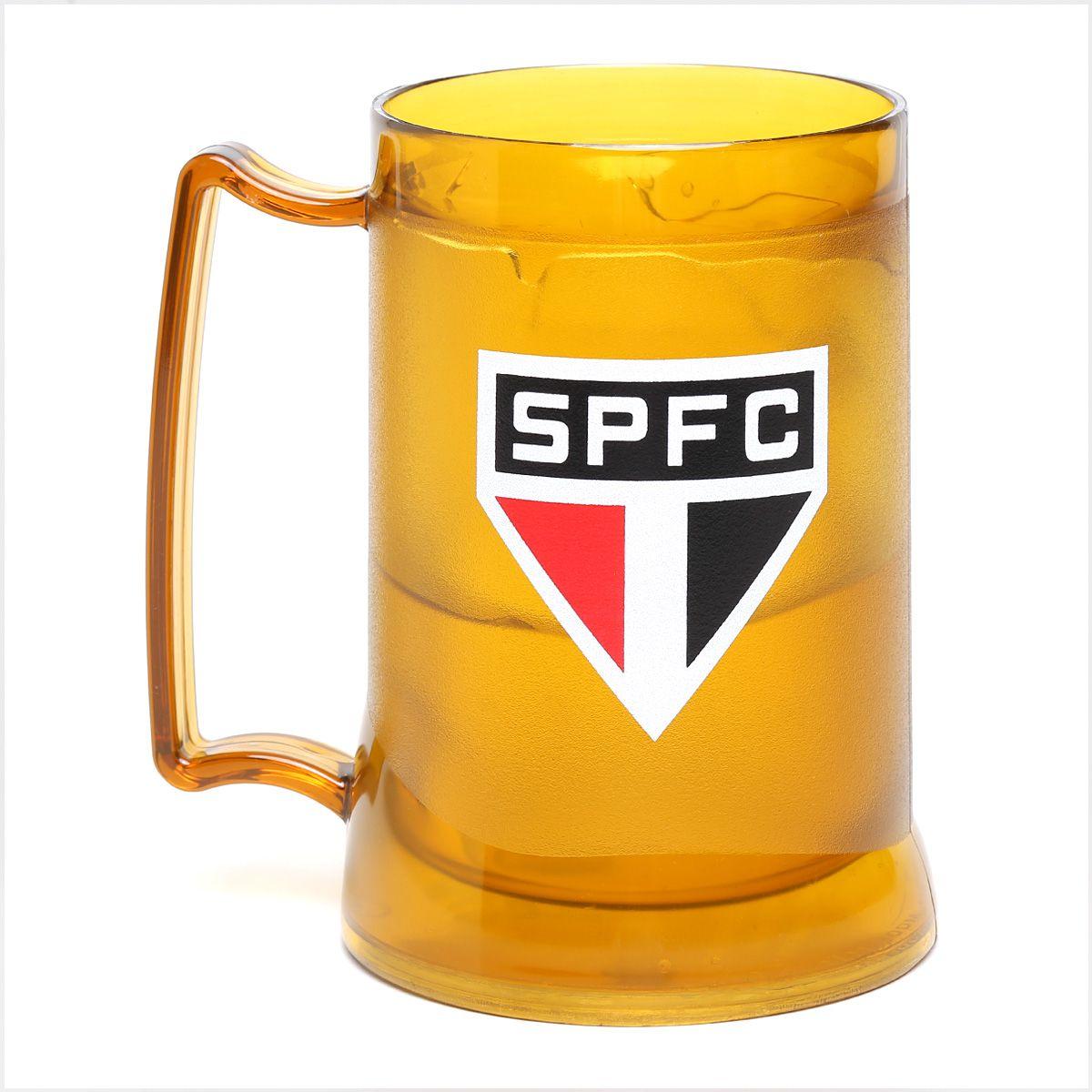 Caneca Gel São Paulo Escudo - Dourada