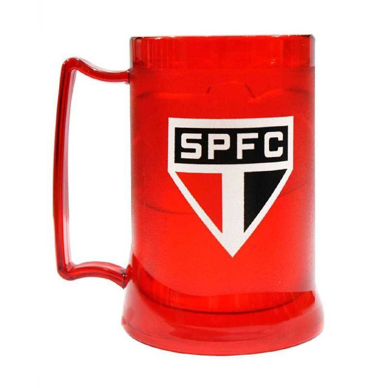 Caneca Gel São Paulo Escudo - Vermelha