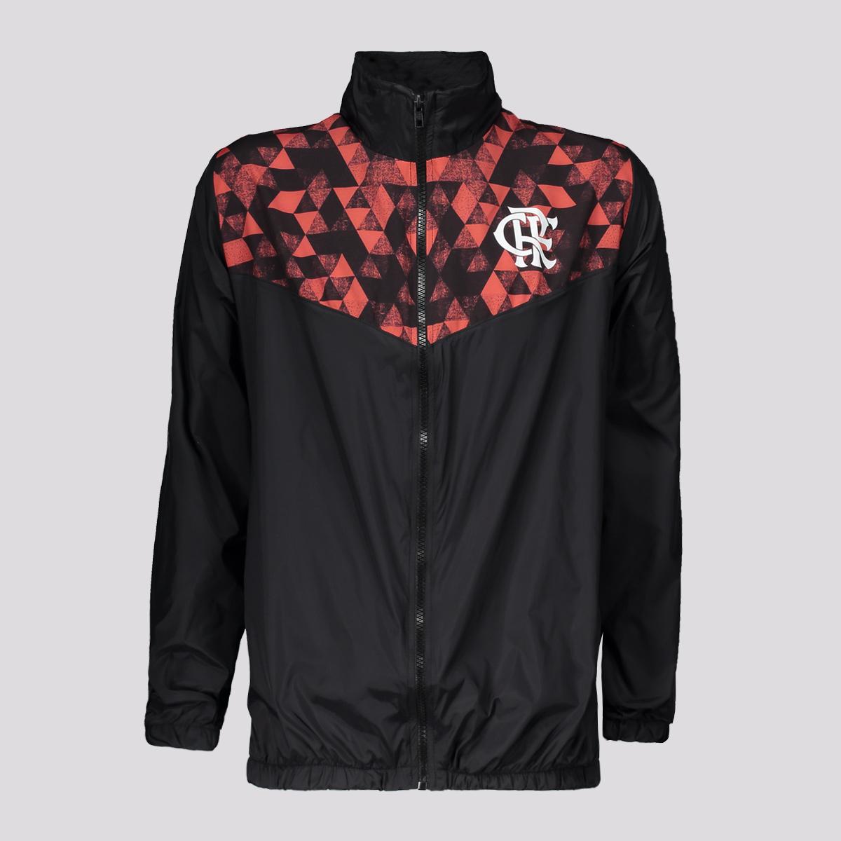 Casaco/Jaqueta Braziline Flamengo Sleeve Masculino - Preto