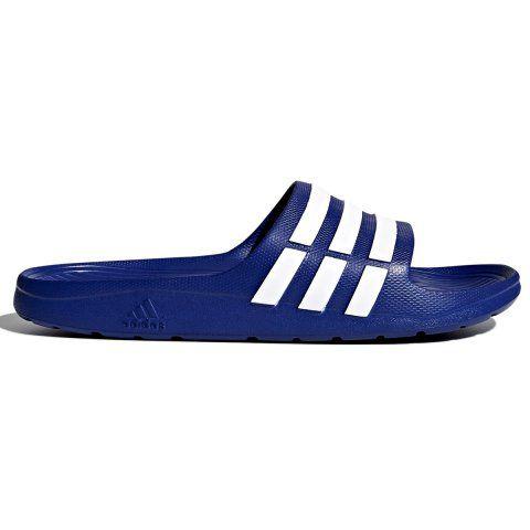 Chinelo Adidas Duramo Slide Masculino - Azul/Branco