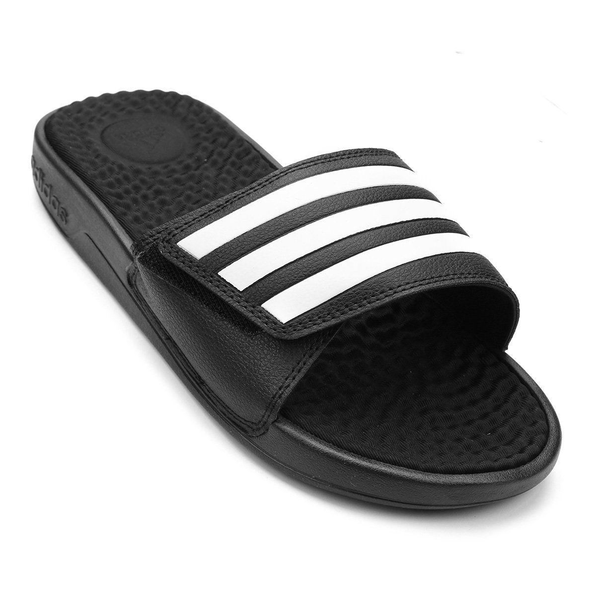 Chinelo Adidas Slide Adissage - Masculino - Preto e Branco
