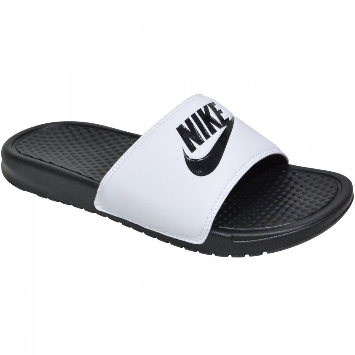Chinelo Nike Benassi Just Do It - Adulto - Masculino - Preto e Branco