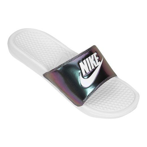 Chinelo Nike Just Do It Print Feminino - Branco