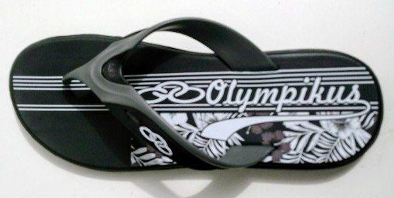 Chinelo Olympikus Sydney -  Masculino - Preto / Chumbo