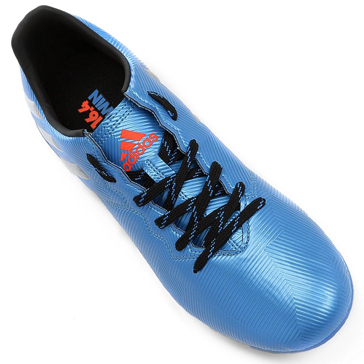 Chuteira Campo Adidas Messi 16.4 FxG Masculino - Azul - Joinville ... 5cd1403de277a