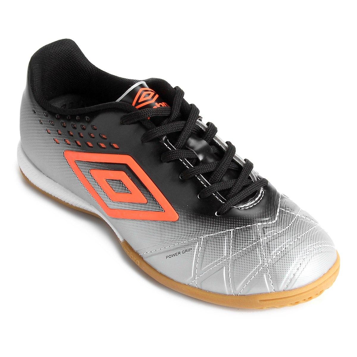 Chuteira Futsal Umbro Fifty Pro Masculino - Cinza/Preto