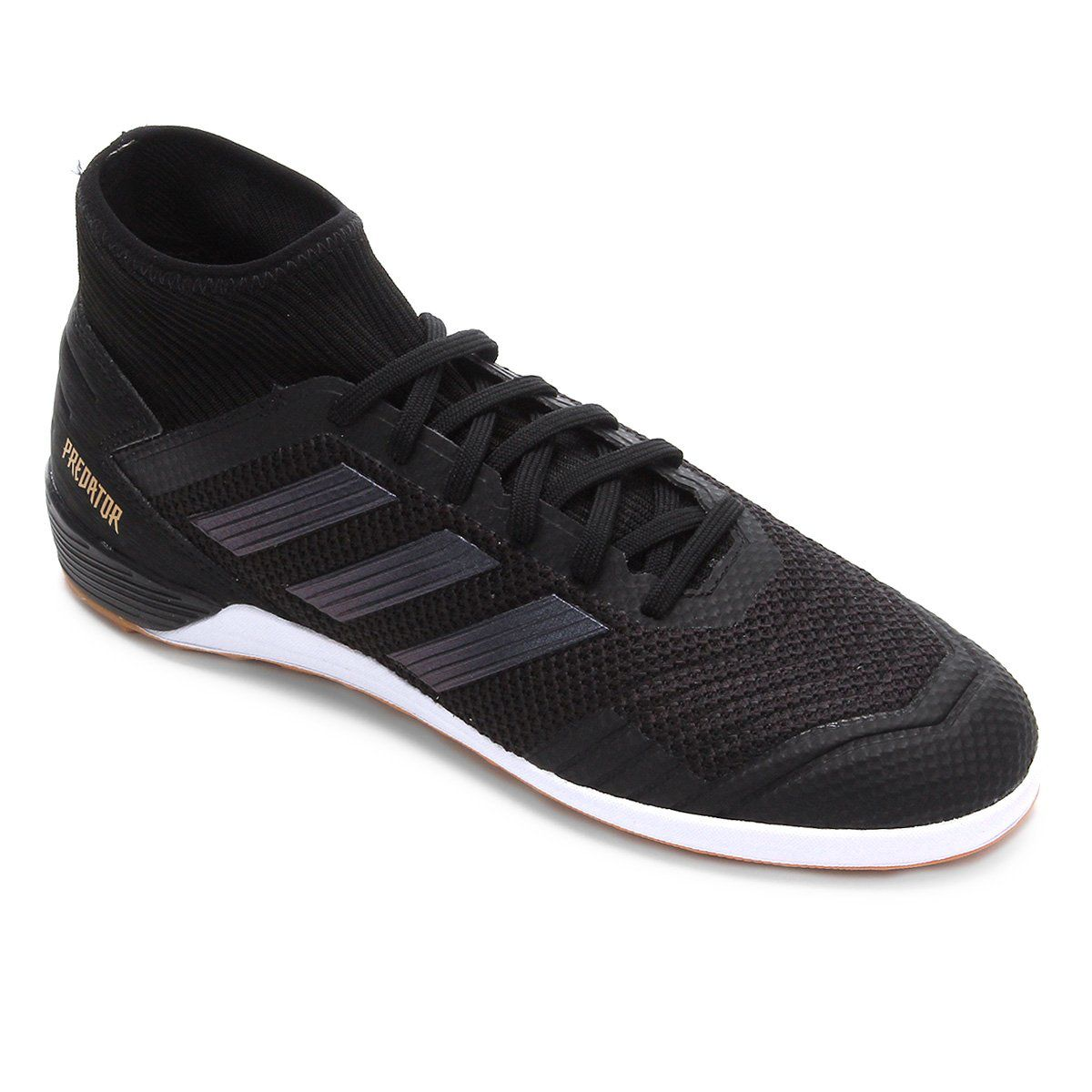 Chuteira Futsal Adidas Predator 19.3 IN - Masculino - Preto