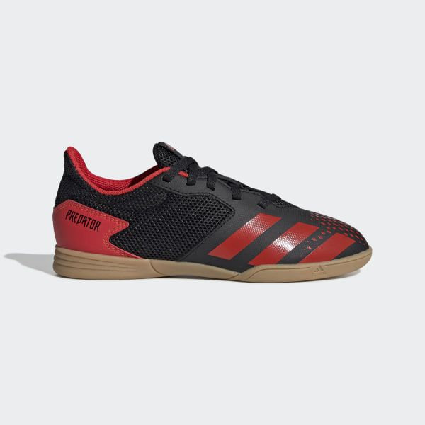 Chuteira Futsal Adidas Predator 20.4 In Sala Juvenil - Preto/Vermelho