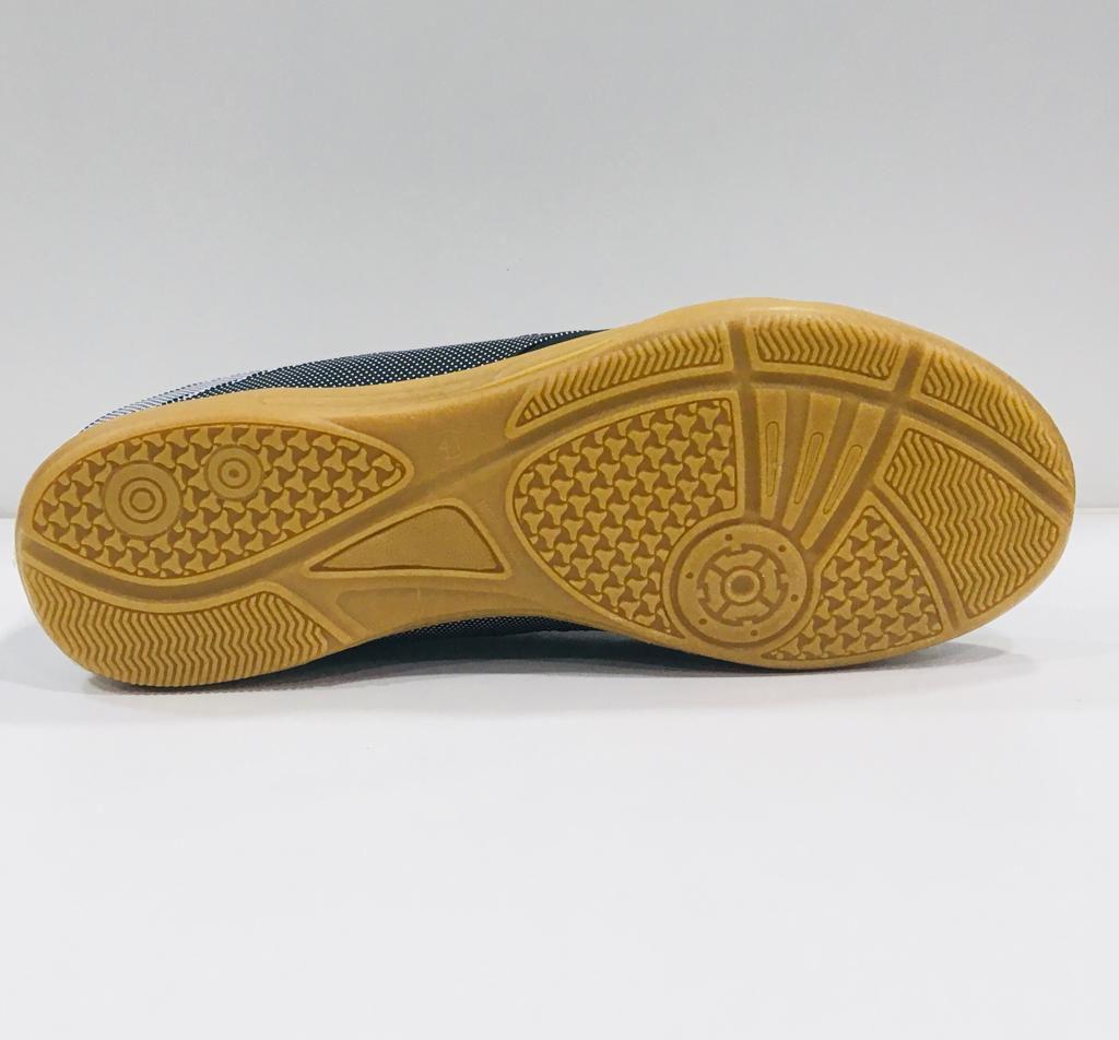 Chuteira Futsal Dray Topfly Tech -  Adulto - Preto e Branco