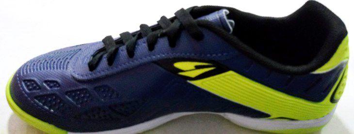 Chuteira Futsal Dray Topfly X2 Adulto 372 - Marinho/Verde Limão