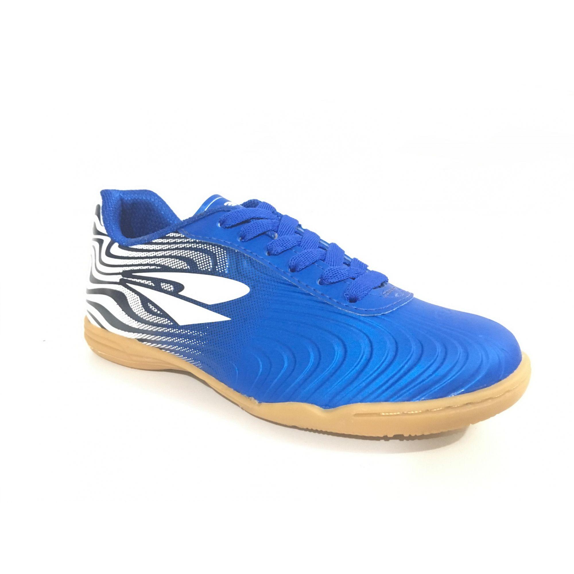 Chuteira Futsal Dray Topfly X2 Adulto - Azul/Branco